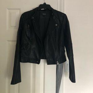 Topshop Biker Faux Leather Jacket